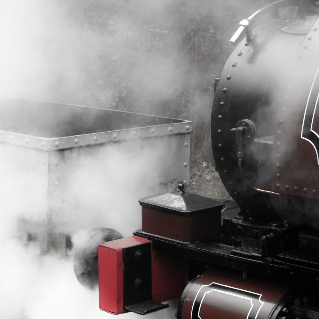 """Letting Off A Little Steam"" stock image"