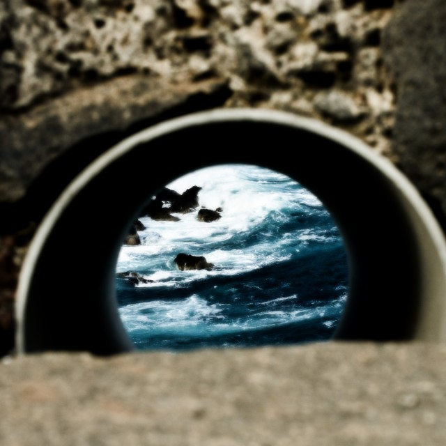 """Tube view at the Atlantic"" stock image"