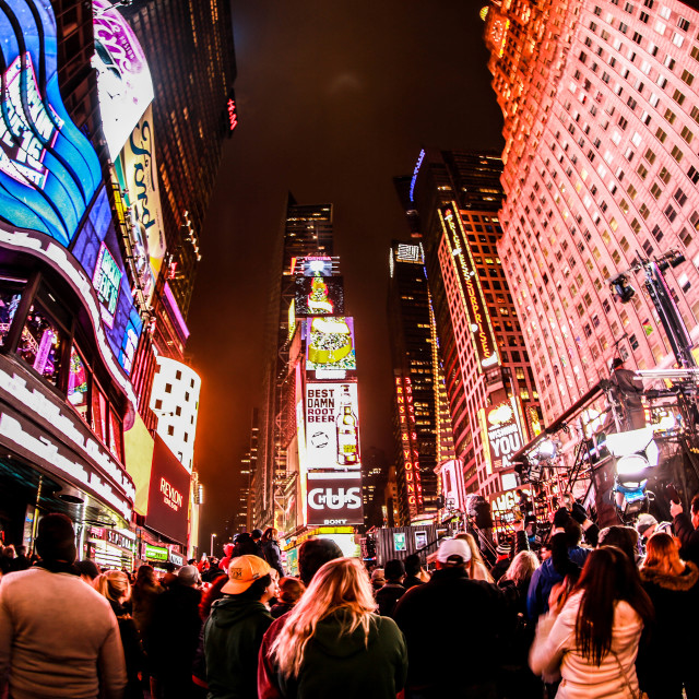 """Times Square - Welcoming 2016"" stock image"