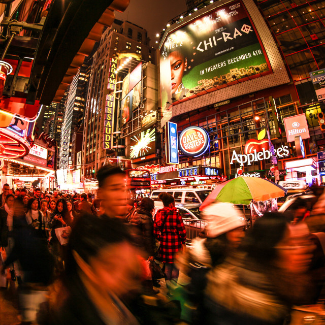 """""""A lane at times square"""" stock image"""