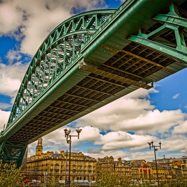 """Under the Tyne bridge"" stock image"