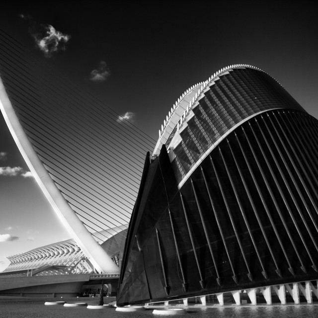 """""""Valencia, Spain - : The City of Arts and Sciences."""" stock image"""