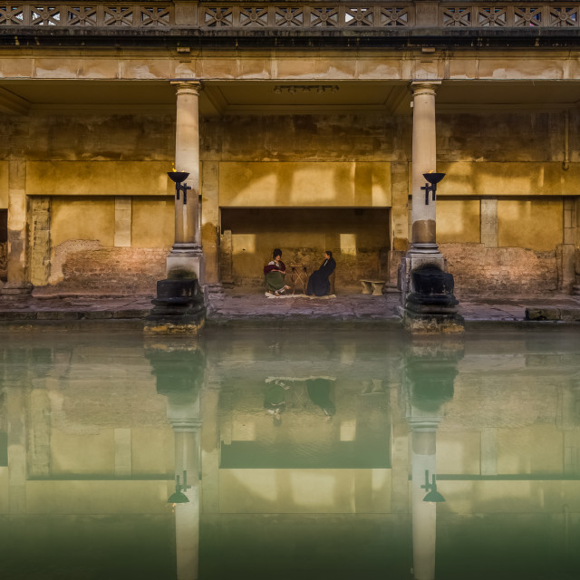 """Roman Baths#1"" stock image"