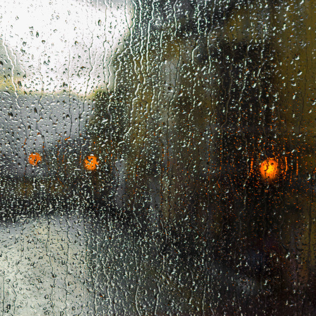 """A Rainy Window"" stock image"