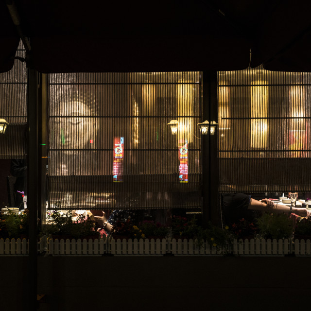 """A restaurant night view of Nanjing, China"" stock image"