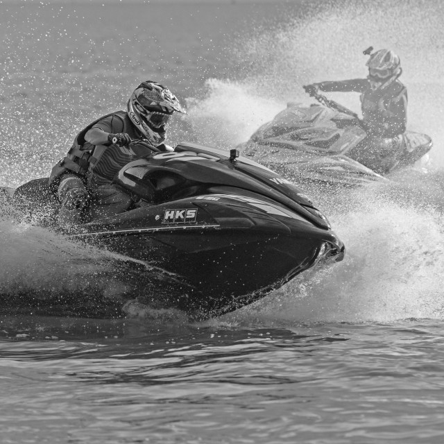 """Competitors World Jet Ski Championship Dec 2016"" stock image"