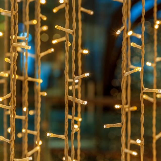 """""""Christmas colorful lights"""" stock image"""
