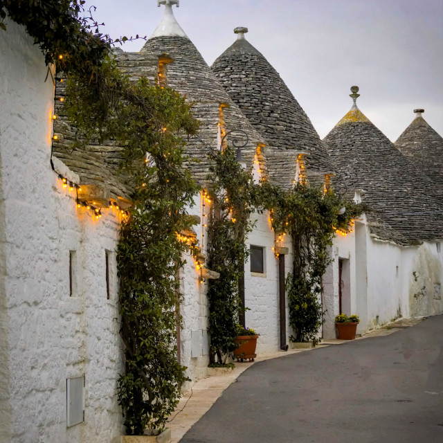 """Trulli of Alborebello in Italy"" stock image"