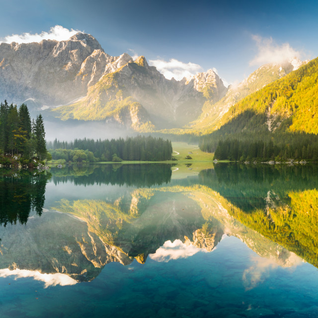 """mountain lake in the Alps"" stock image"