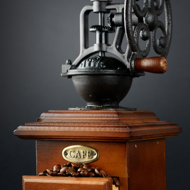 """""""old-fashioned coffee grinder"""" stock image"""