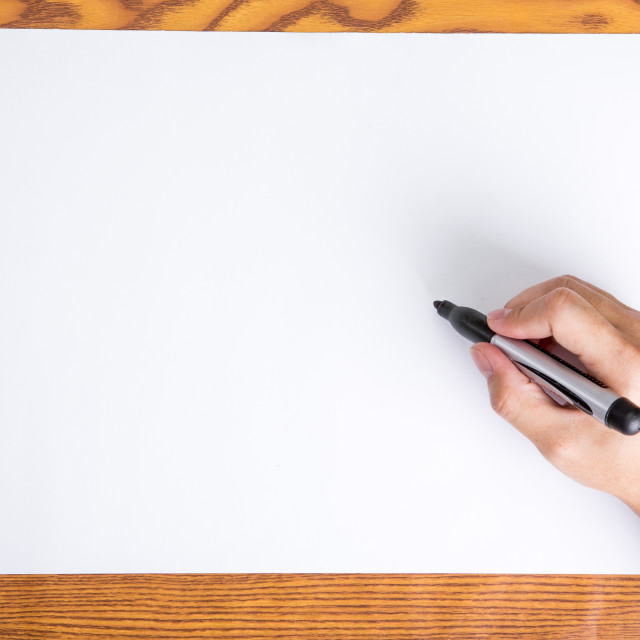 """Hand write on white paper"" stock image"