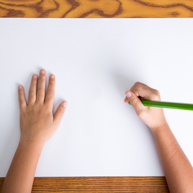 """childs hands drawing"" stock image"