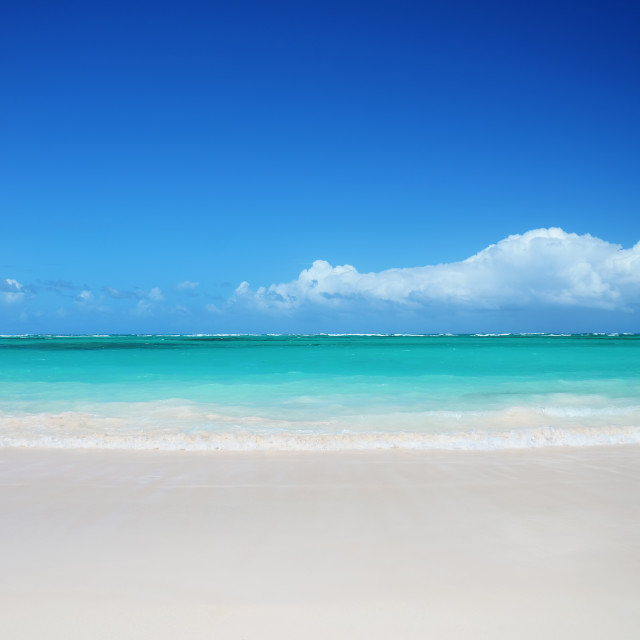 """""""Tropical beach and beautiful clouds"""" stock image"""