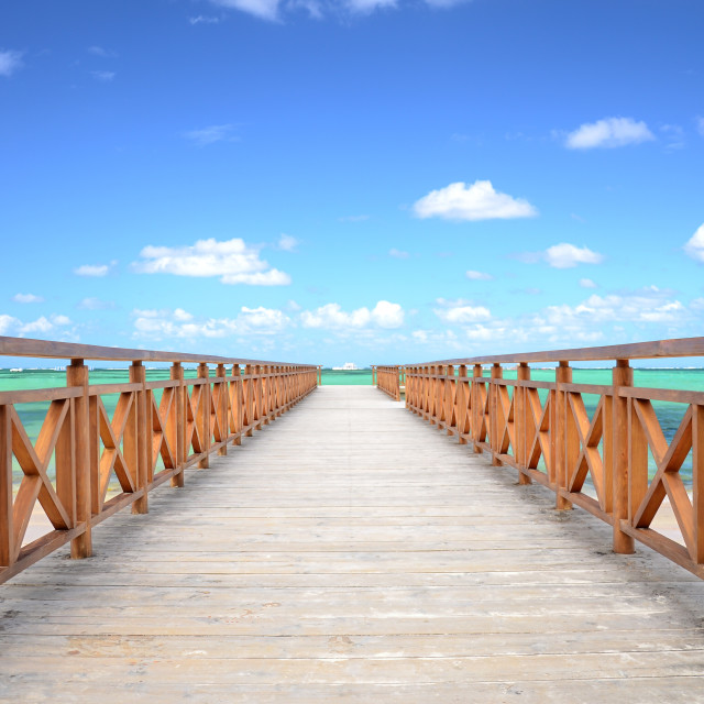 """""""Caribbean Jetty and exotic beach"""" stock image"""