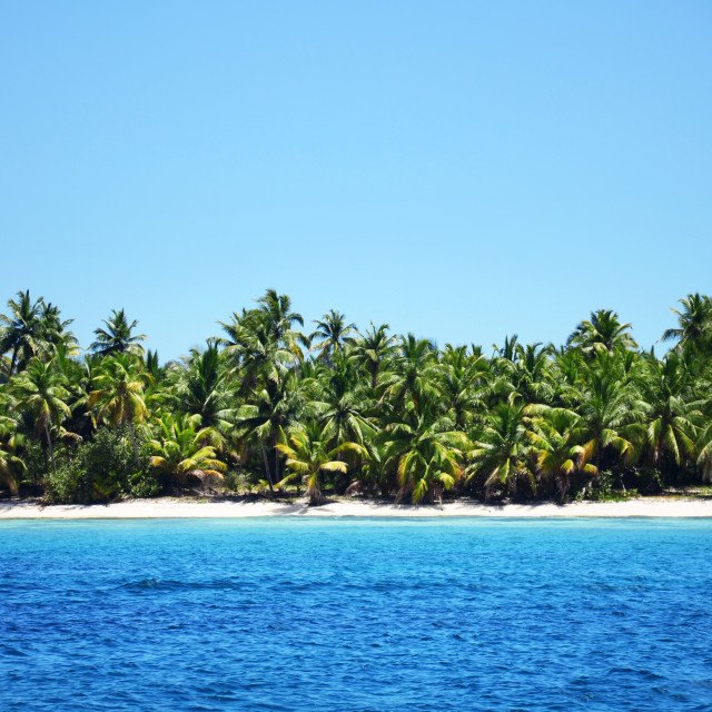 """Beautiful landscape of exotic tropical island"" stock image"