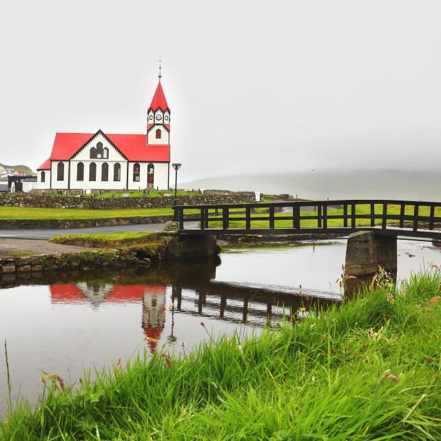 """Sandavags church"" stock image"