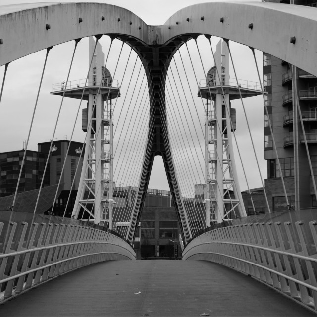 """Salford Quays."" stock image"