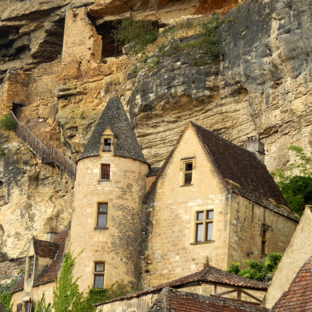 """""""French Troglodyte Fort"""" stock image"""