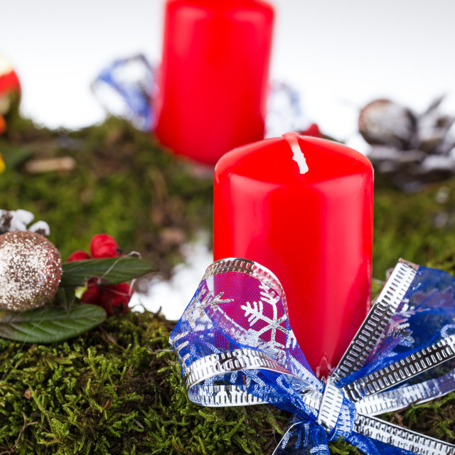 """Advent wreath with candles for the pre Christmas time"" stock image"