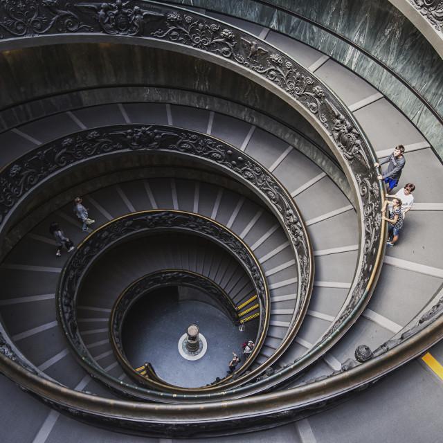 """Spiral staircase Bramante"" stock image"