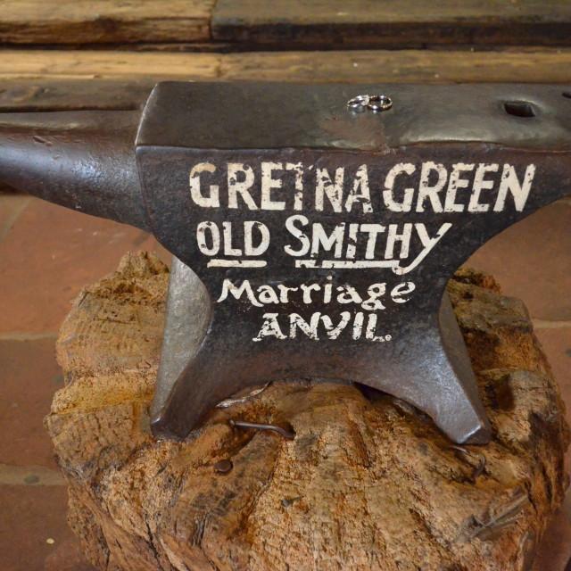 """""""Gretna Green Anvil 0271"""" stock image"""