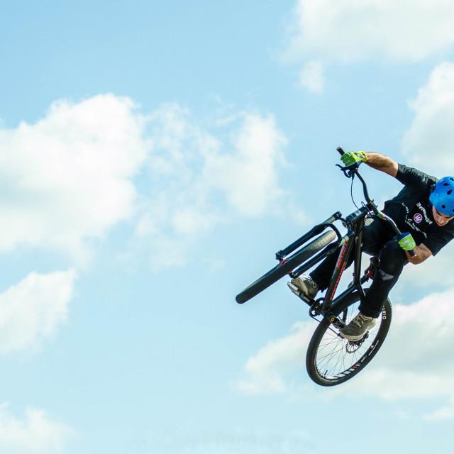 """Freestyl'air Bike Stunts"" stock image"