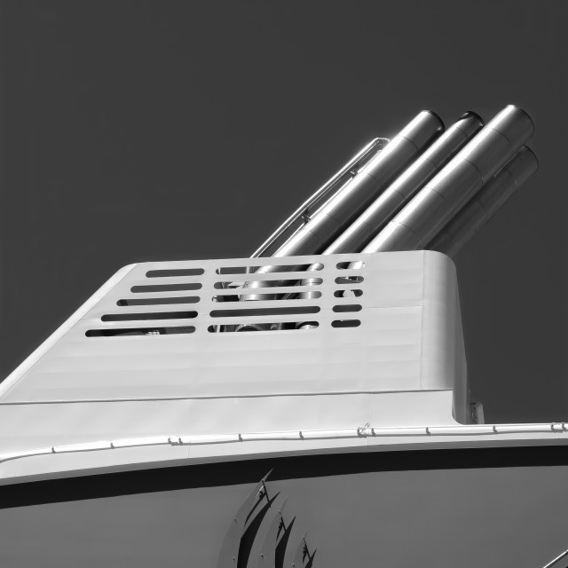 """cruise ship funnel"" stock image"