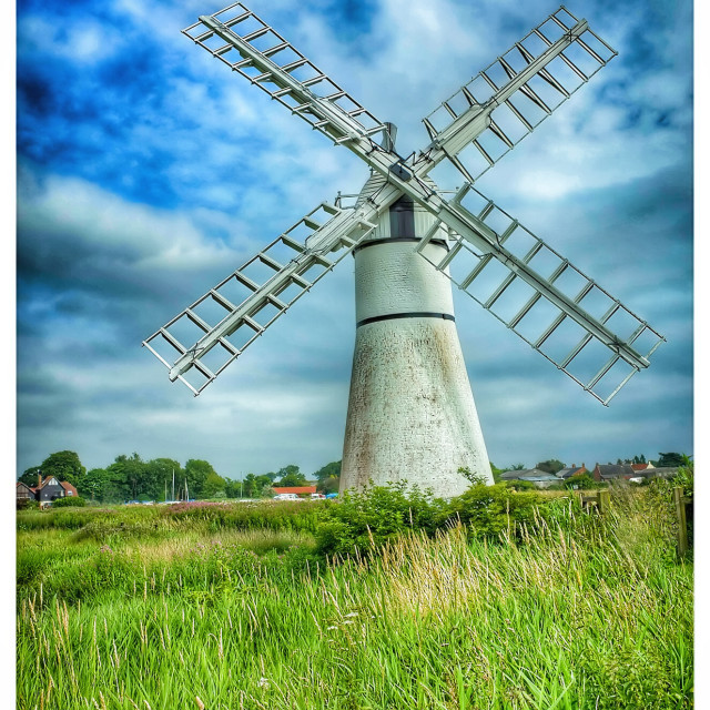 """""""Thurne Windmill"""" stock image"""