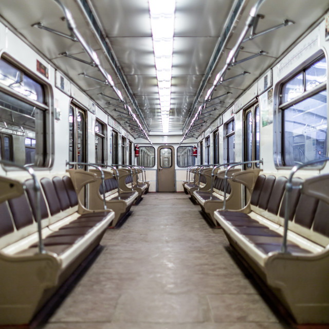 """Moscow subway car"" stock image"