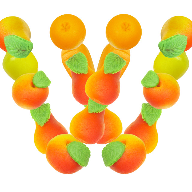 """alphabet from fruit, the letter W"" stock image"
