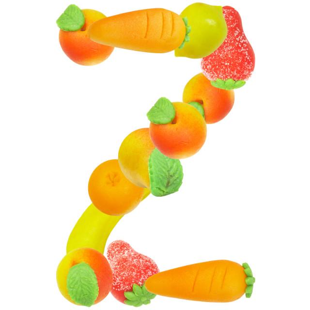 """alphabet from fruit, the letter Z"" stock image"