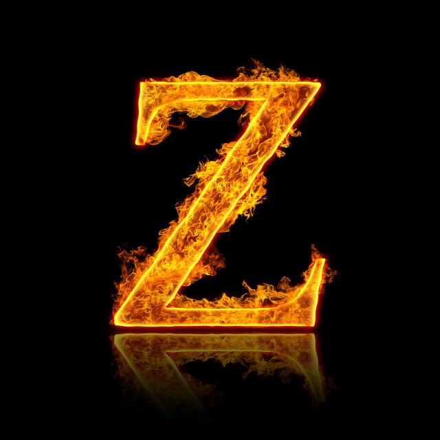 """""""Fire alphabet letter Z"""" stock image"""