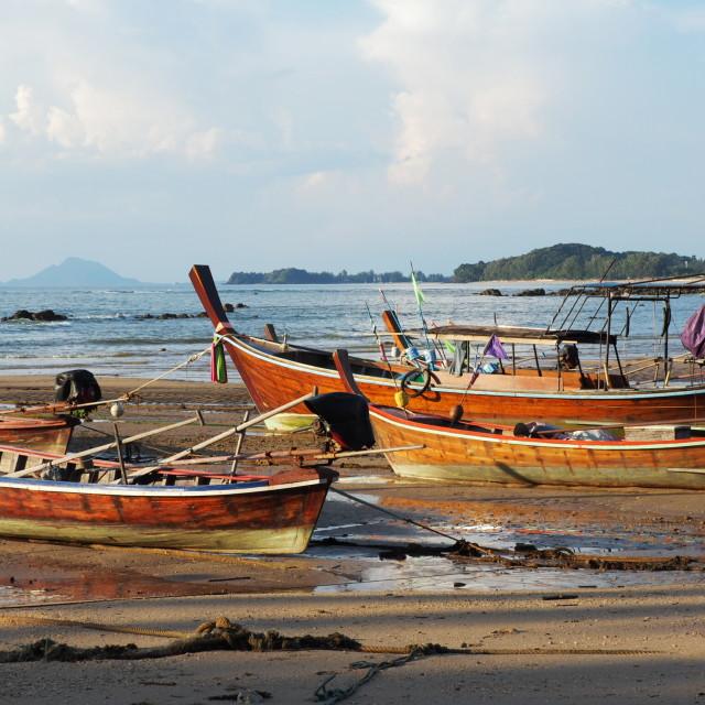 """Thai fishing boats"" stock image"