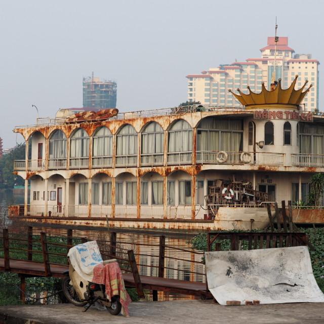 """Old boat - Hanoi"" stock image"