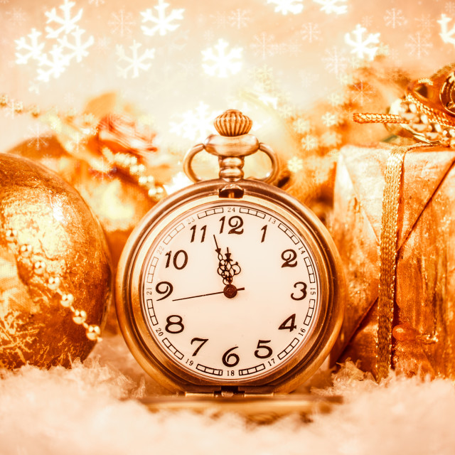 """Christmas pocket watch"" stock image"