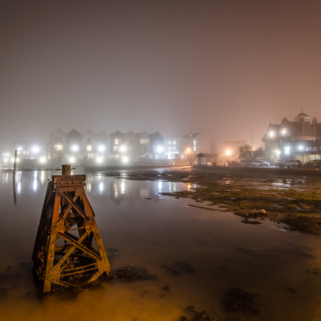 """""""On a still and misty night"""" stock image"""