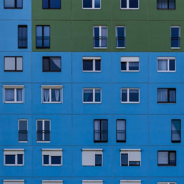 """Apartment building windows"" stock image"