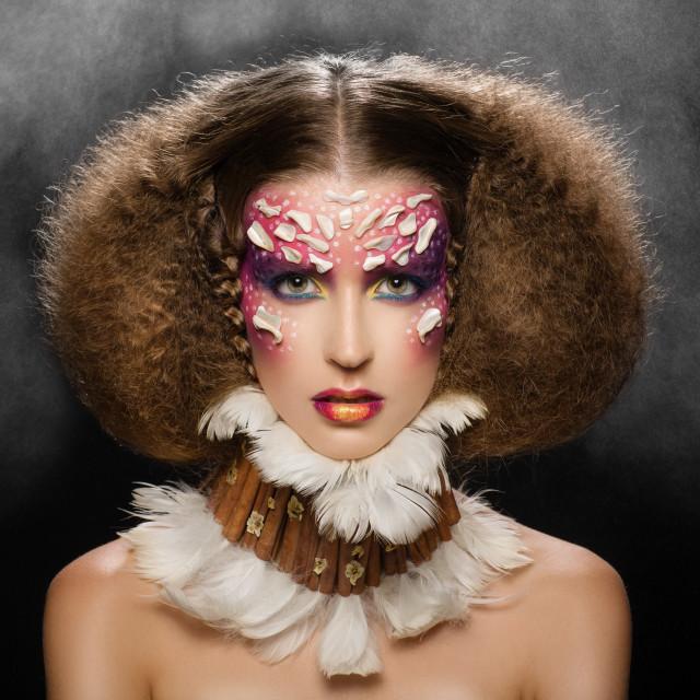 """Creative makeup and hair."" stock image"