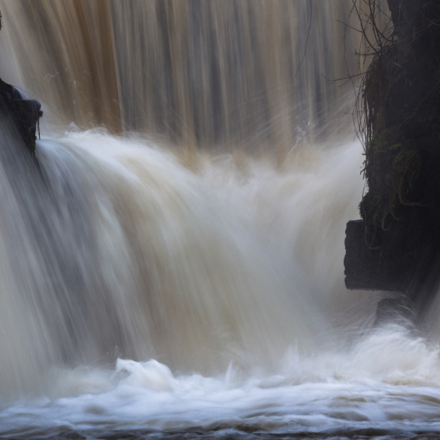 """Waterfalls at Penllergare nature reserve"" stock image"