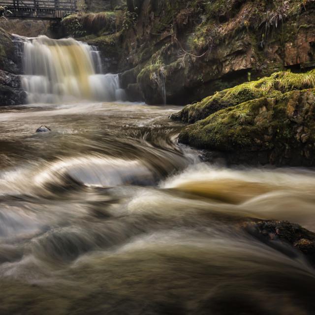 """Dinas Rock Waterfalls"" stock image"