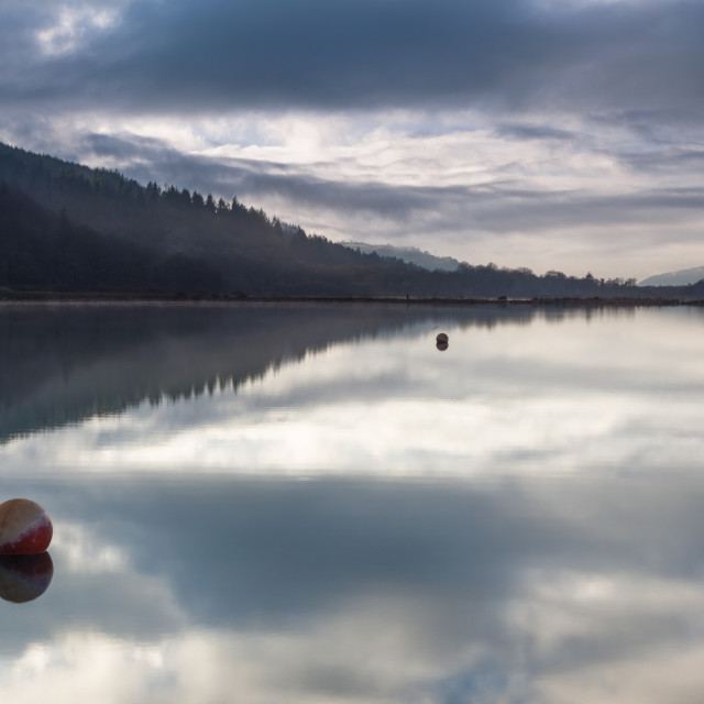 """Glynneath lakes South Wales"" stock image"