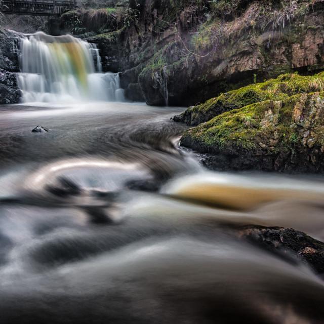 """""""Dreamy Sgydau Sychryd Waterfalls"""" stock image"""