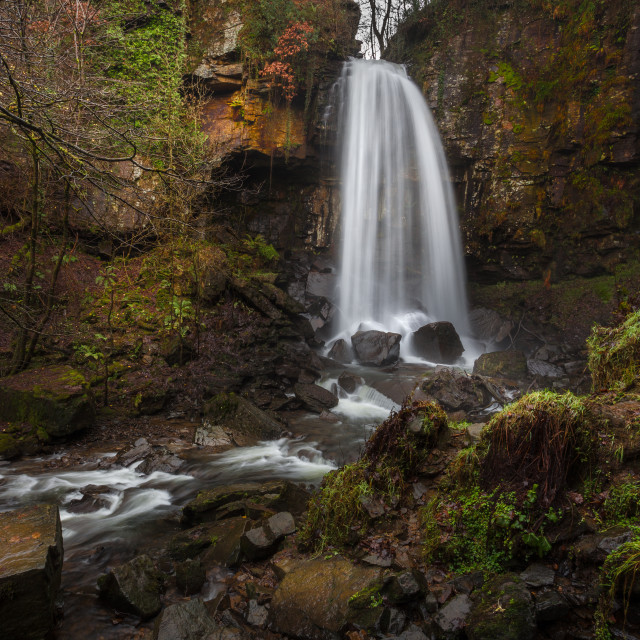 """""""Mystical Melincourt waterfall"""" stock image"""