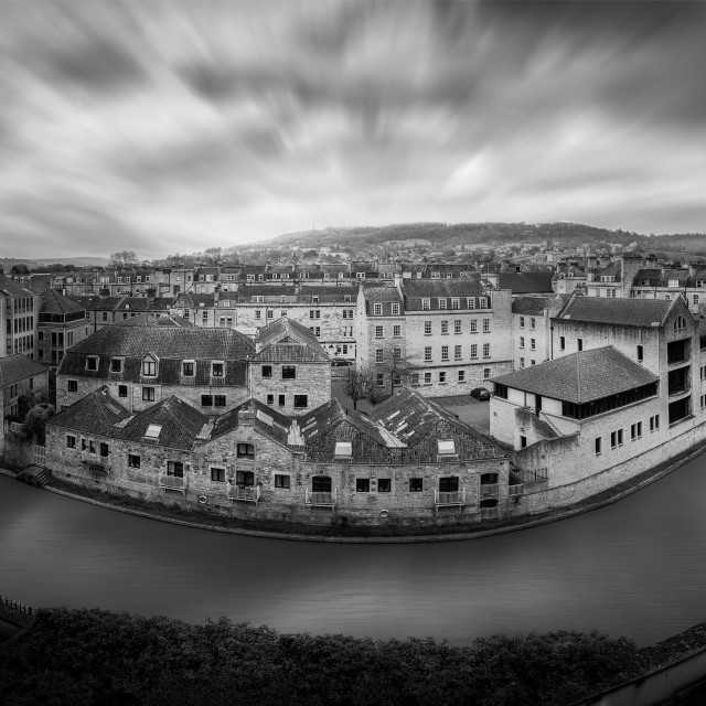 """A River Through Bath"" stock image"