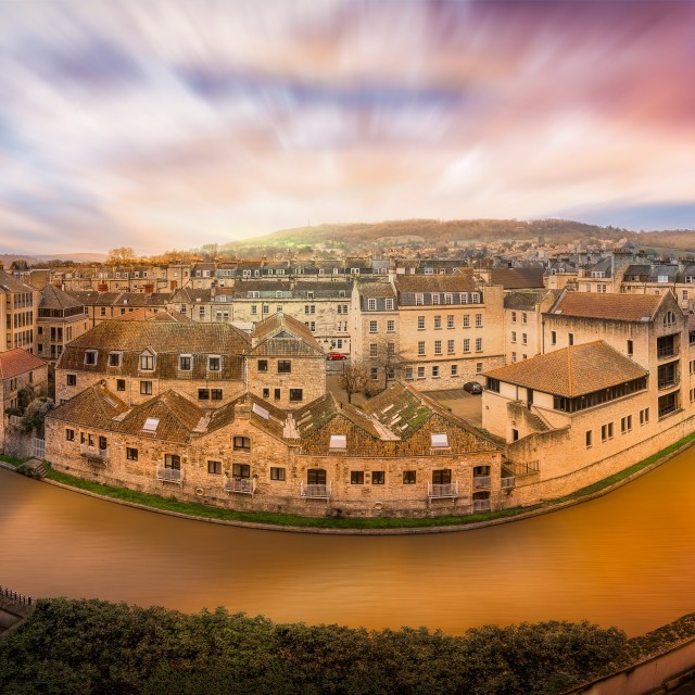 """The River Avon Through Bath"" stock image"