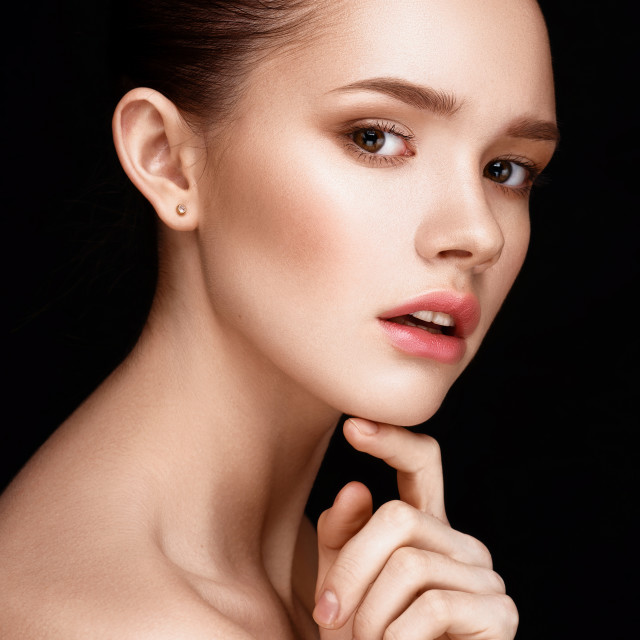 """""""Portrait of beautiful girl with clear healthy skin"""" stock image"""