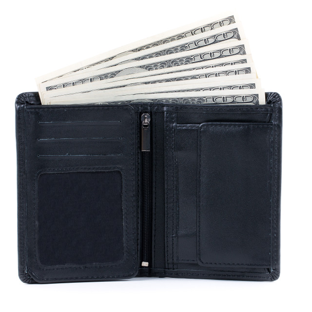 """Wallet with American dollars"" stock image"