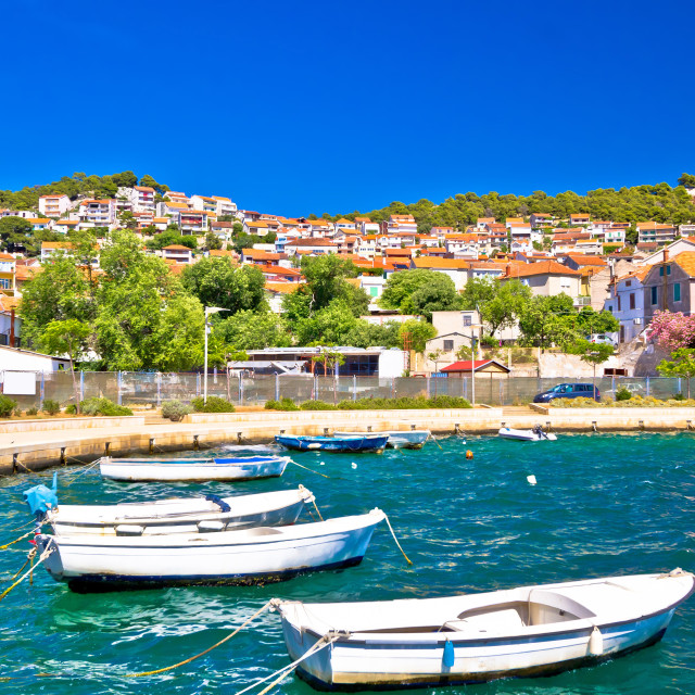 """City of Sibenik colorful coast"" stock image"