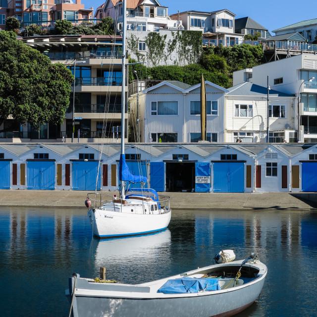 """""""Wellington marina"""" stock image"""