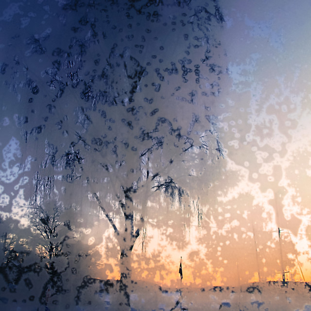 """Window Frost"" stock image"